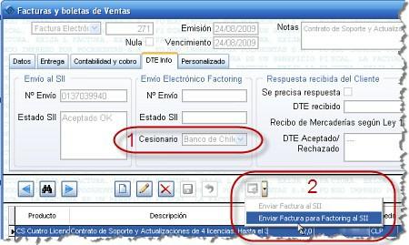 Cómo enviar un DTE al Registro de Cesión de Créditos