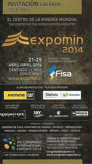 Invitación Expomin 2014