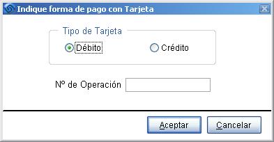 Opciones Vales Transbank