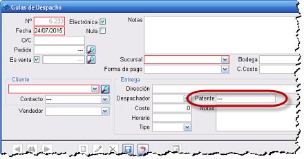 Patente Guía de Despacho