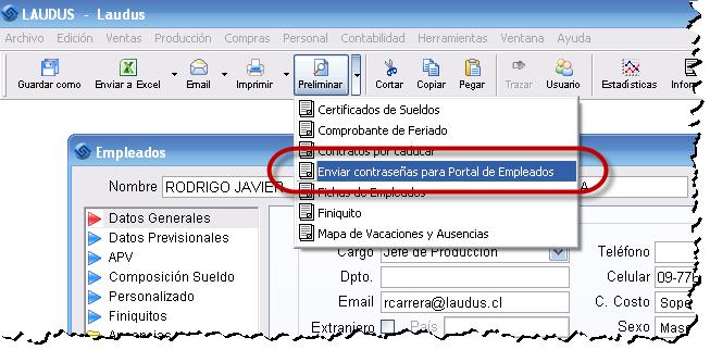 Portal Empleados Cambio Clave