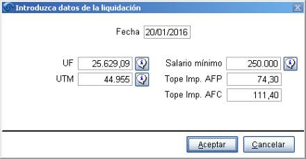 Datos liquidacion enero 2016