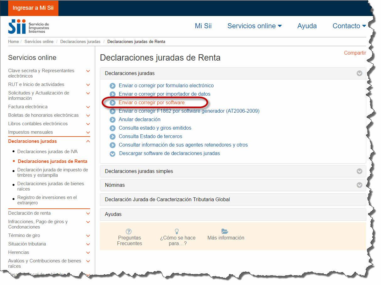 Software de Contabilidad - Envio DDJJ 1879 1887 paso 4