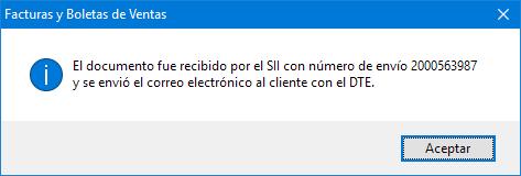 Envio Ok DTE Factura Electrónica