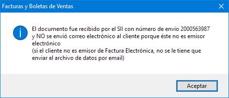 Envio Ok DTE Factura Electrónica Cliente no DTE