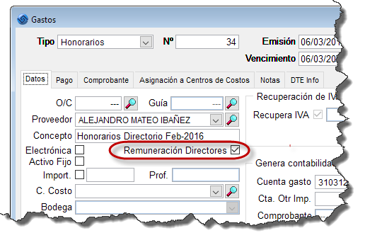 Honorarios Directores DDJJ 1879