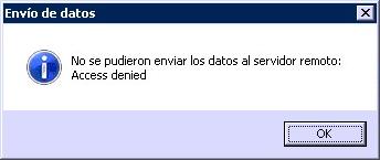 Error envío respaldo AWS