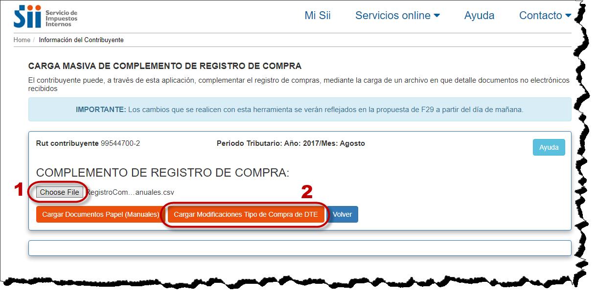 Registro Compras, caracterización
