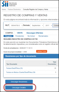 Descargar Detalle Registro Compras Ventas