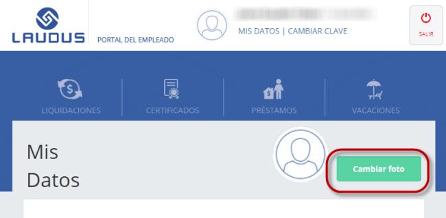 Software de Remuneraciones, subir foto Portal de Empleados