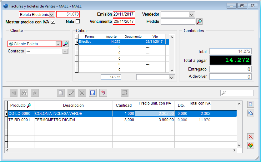 Software Ventas - Ajuste Redondeo Paso 1