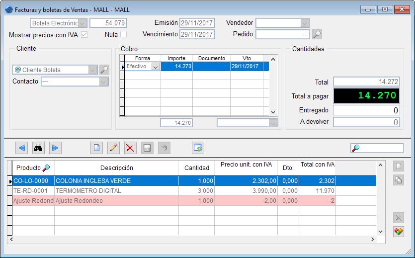 Software Ventas - Ajuste Redondeo Paso 2