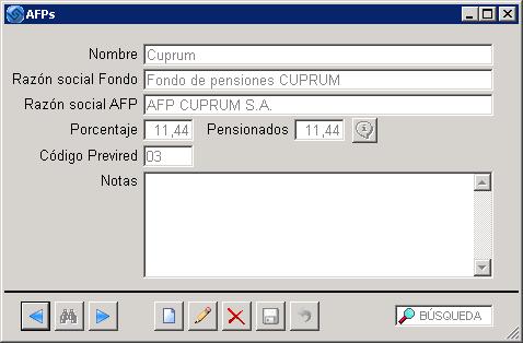 Nueva tasa AFP Cuprum